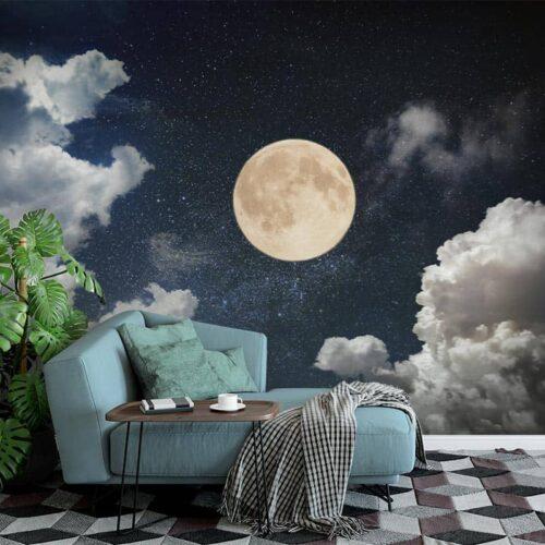 Fotobehang In het maanlicht