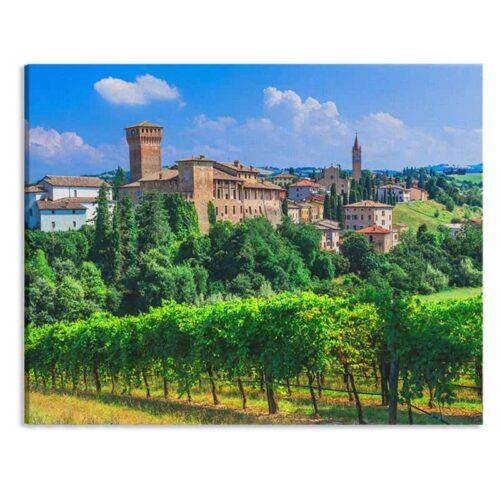 Canvas Italiaans plattelands dorp