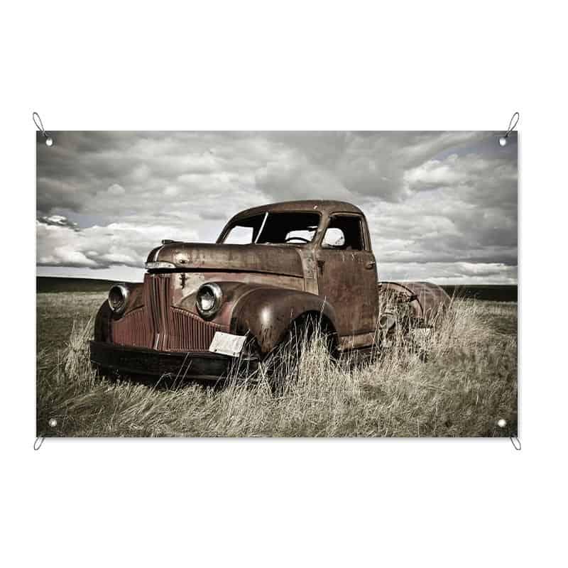 Tuinposter vintage truck