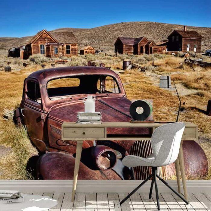Fotobehang Verlaten auto