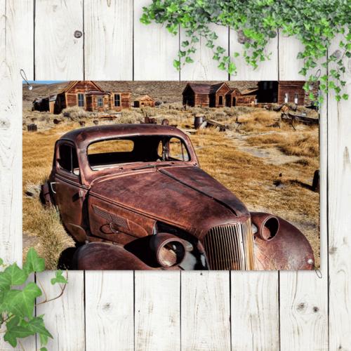 Tuinposter verlaten auto