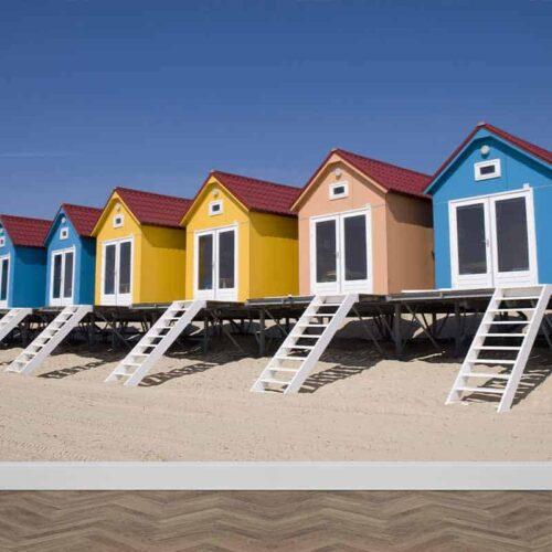 Fotobehang Strandhuisjes