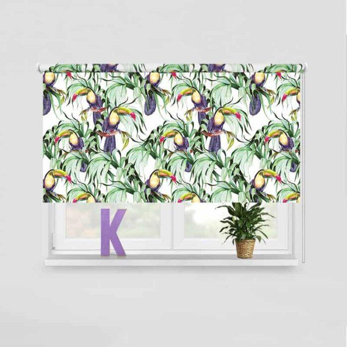 Rolgordijn Botanische jungle patroon 5