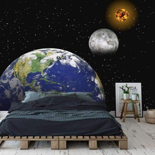 Fotobehang Zon maan aarde