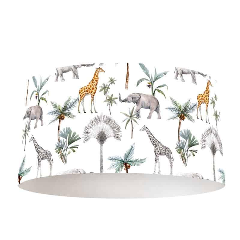 Lampenkap Olifanten en giraffen patroon