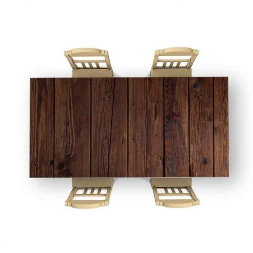 Tafelsticker Donker hout patroon 2