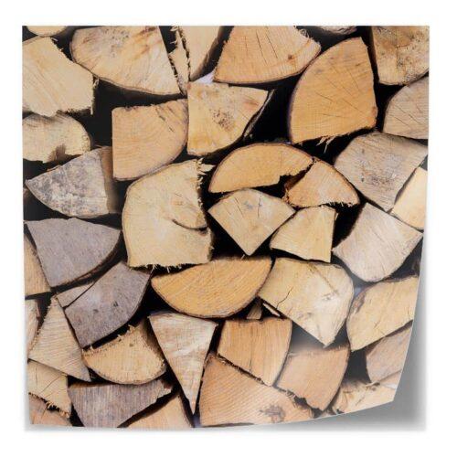 Tafelsticker Opgestapeld hout
