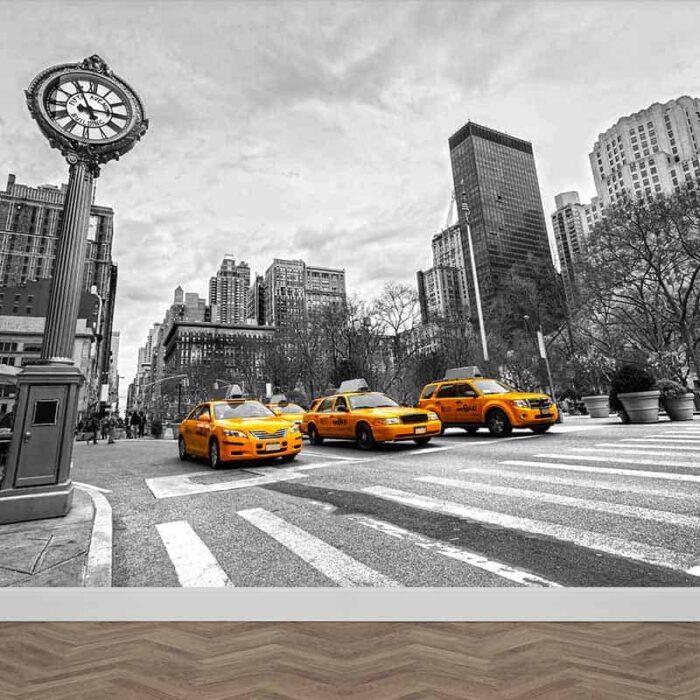 Fotobehang New York taxi op rij