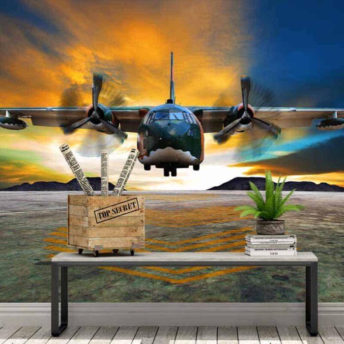 Fotobehang Militair vliegtuig
