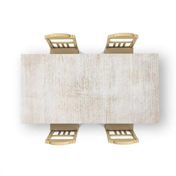 Tafelsticker White wash hout