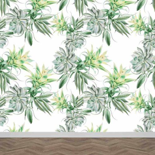 Fotobehang Ananas plant patroon