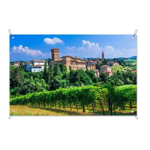 Tuinposter Italiaans plattelands dorp