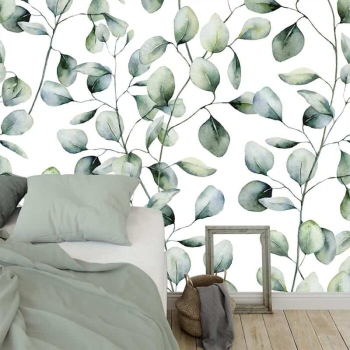 Fotobehang Eucalyptus blaadjes 2