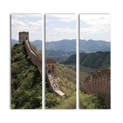 3 luik canvas wandelen op chinese muur