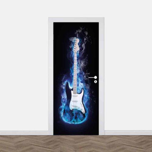 Deursticker Elektrische gitaar