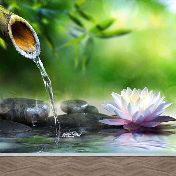 Fotobehang Rustgevende waterpartij