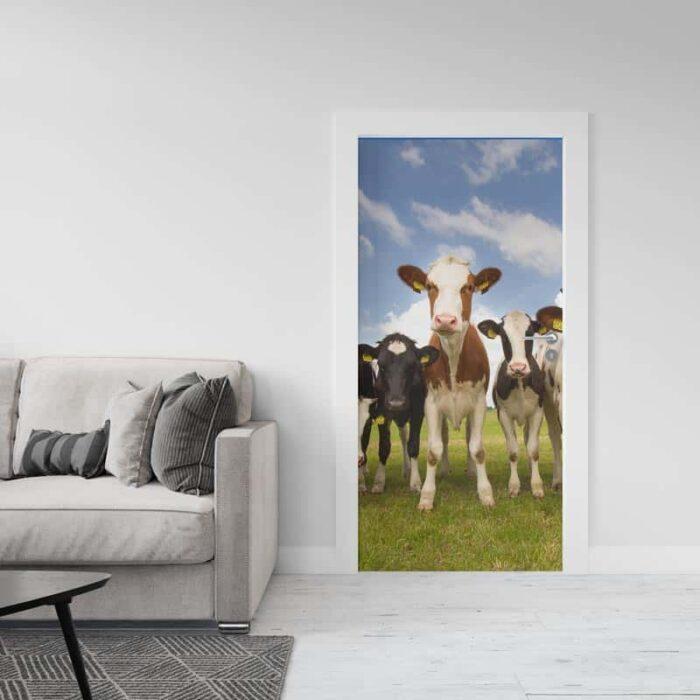 Deursticker Koeien in de wei