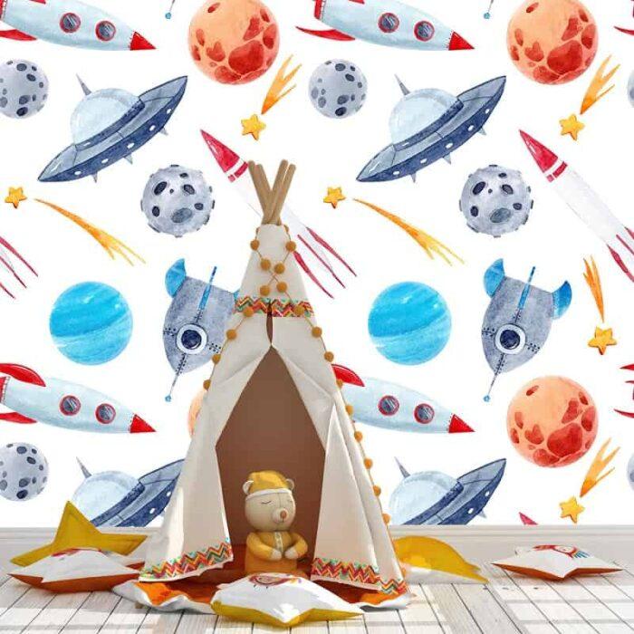 Fotobehang Ufo's en ruimteschepen
