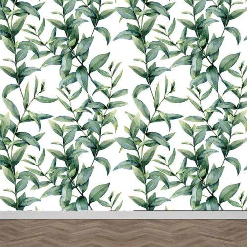 Fotobehang Bladeren patroon 19