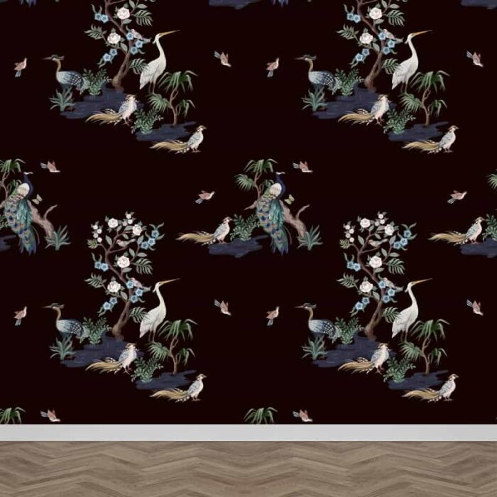 Fotobehang Orientaals botanisch patroon