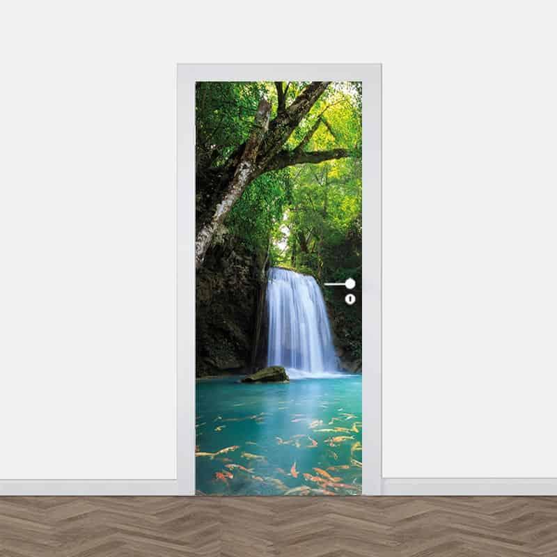 Deursticker Waterval kin de jungle