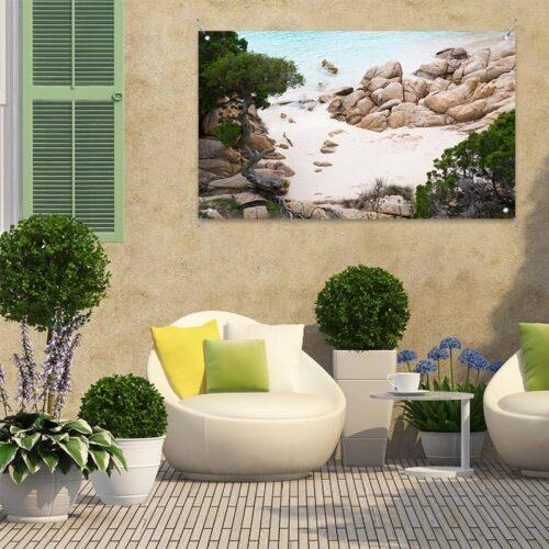 Tuinposter Mediterraans strand