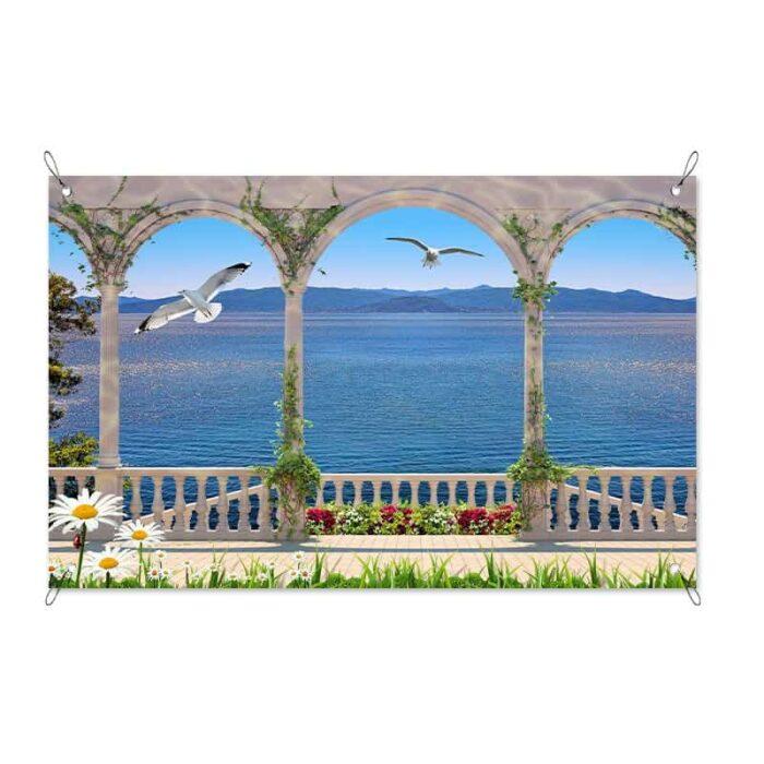 Tuinposter Fantastisch uitzicht op zee