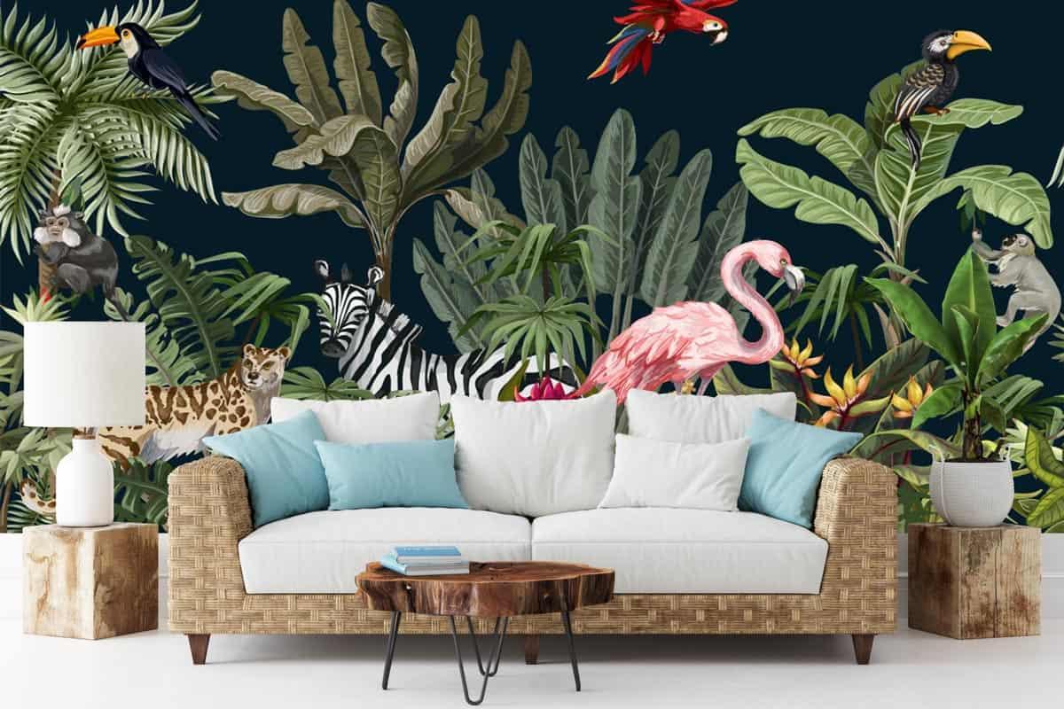 Fotobehang Dieren in de jungle