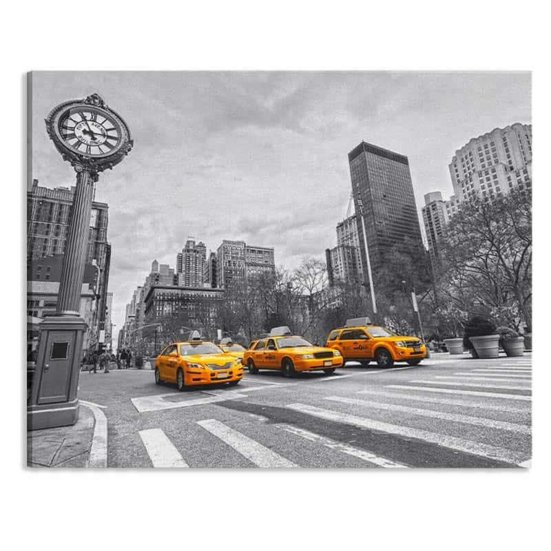 Canvas New York taxis op rij