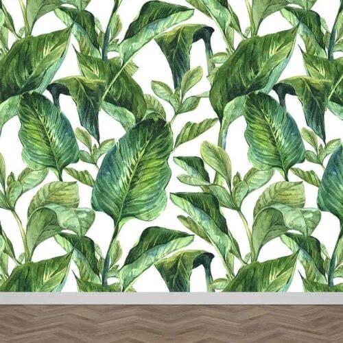 Fotobehang Bladeren patroon 21
