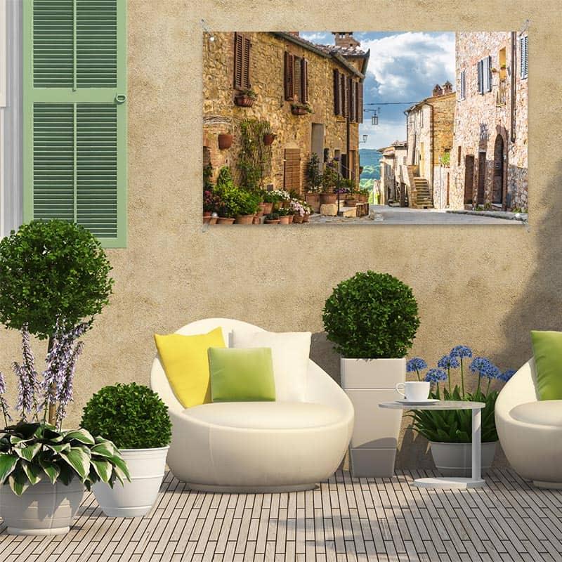 Tuinposter In een Italiaans straatje