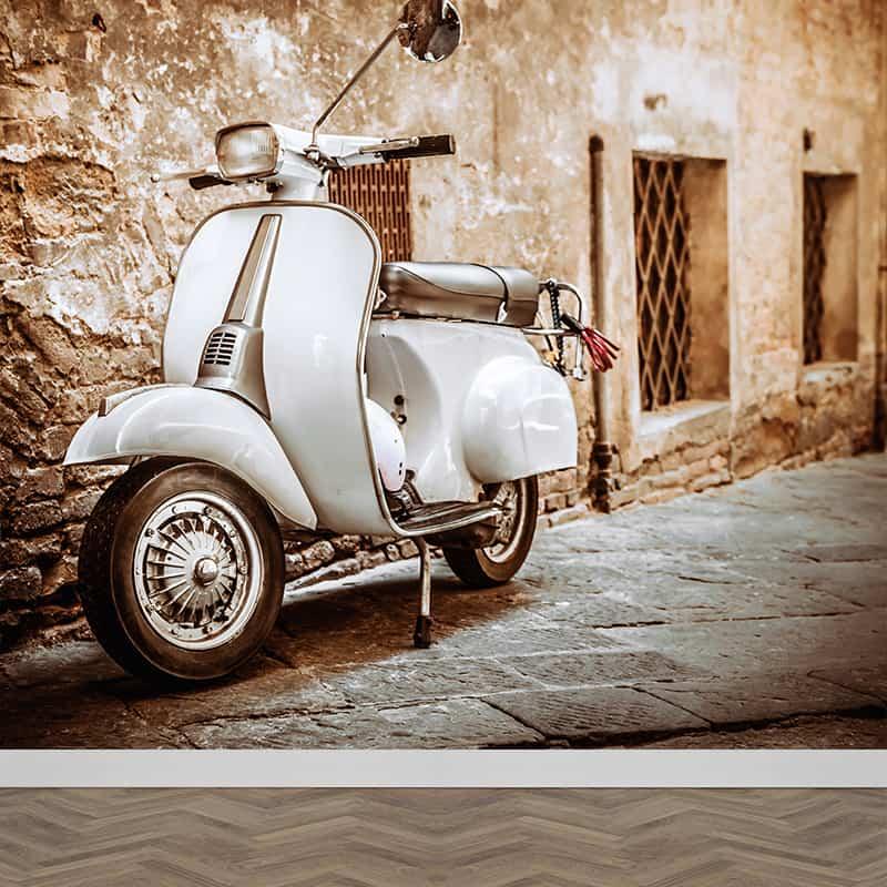 Fotobehang Op de Vespa scooter