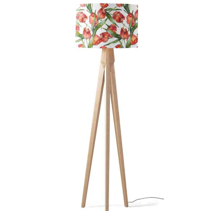 Lampenkap Aquarel tulpen patroon