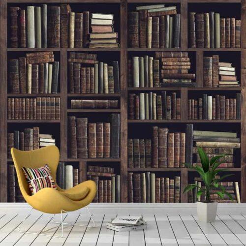 Fotobehang Oude boekenkast