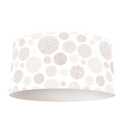 Lampenkap Stippen patroon roze