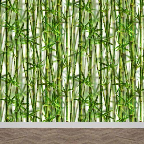 Fotobehang Bamboe aquarel patroon 2