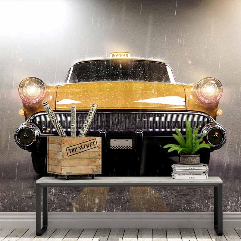 Fotobehang Mysterieuze taxi