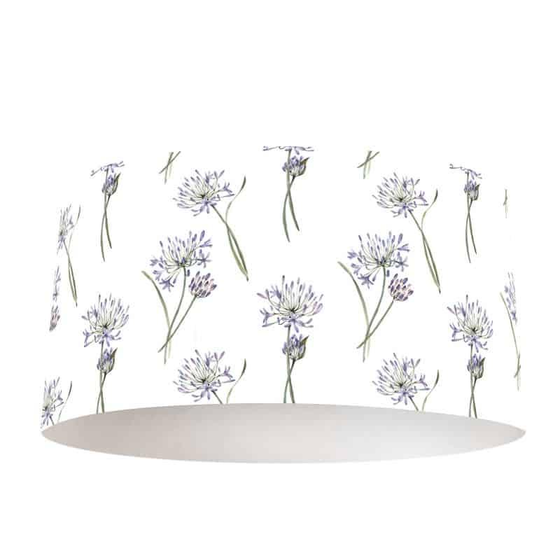 Lampenkap Allium aquarel patroon
