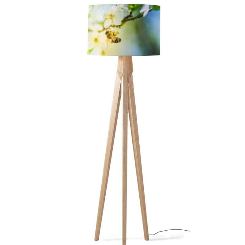Lampenkap Bij op bloem