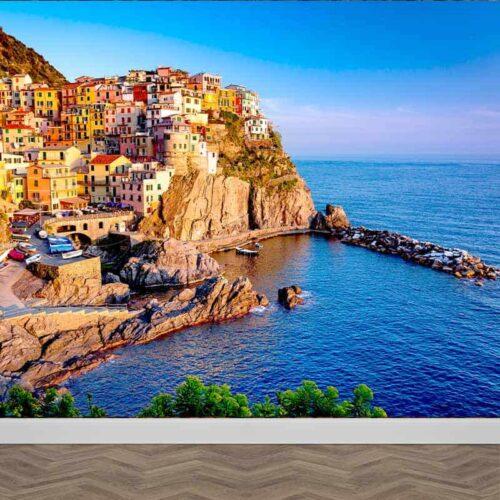 Fotobehang Italiaans dorp aan zee 2