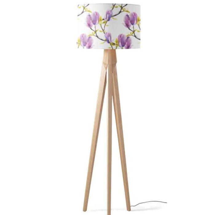 Lampenkap Paarse magnolia bloem aquarel