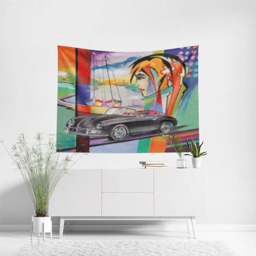 Wanddoek Classic car h