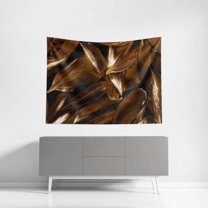 Wanddoek Gouden blaadjes