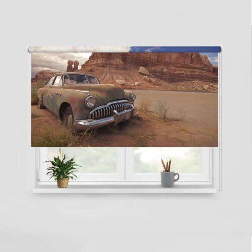 Rolgordijn Verlaten in de woestijn