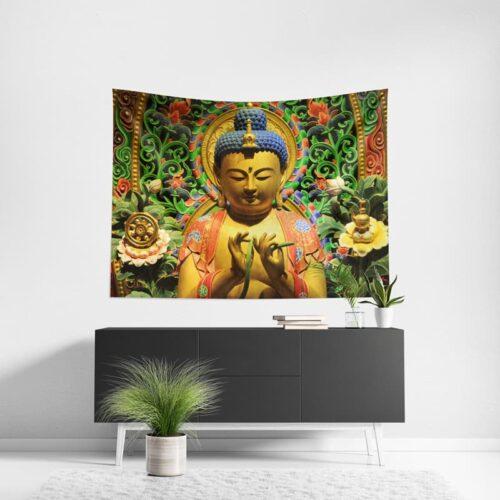 Wanddoek Boeddha Thailand