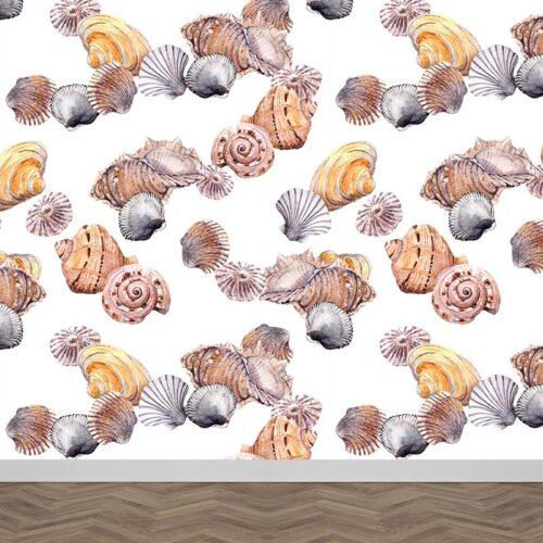Fotobehang Schelpen patroon