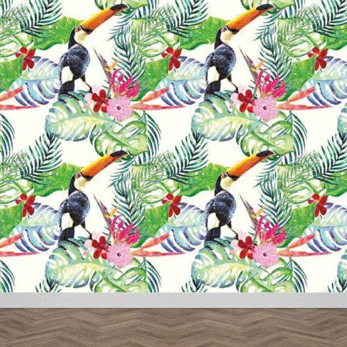 Fotobehang Botanische jungle patroon 9