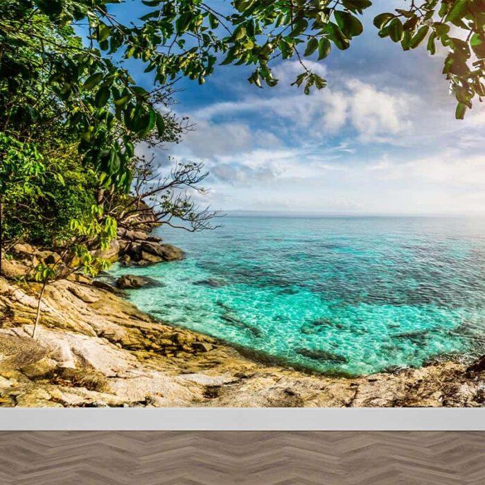 Fotobehang Tropische zee panorama