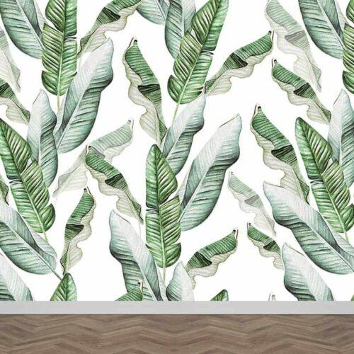Fotobehang Bladeren patroon 15