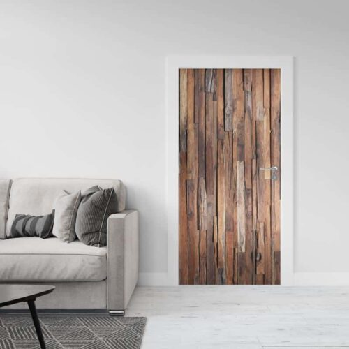 Deursticker Rustiek hout